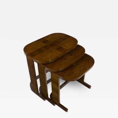 De Coene THREE ART DECO NEST TABLES BY DE COENE FR RES