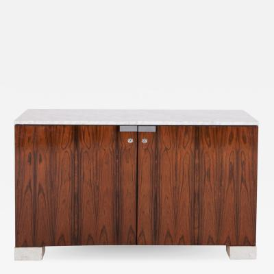 De Coene Walnut and Marble Cabinet by De Coene 1950s