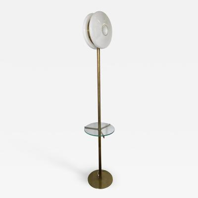 De Majo Brass Floor Lamp Murano Glass by De Majo Italy 1970s