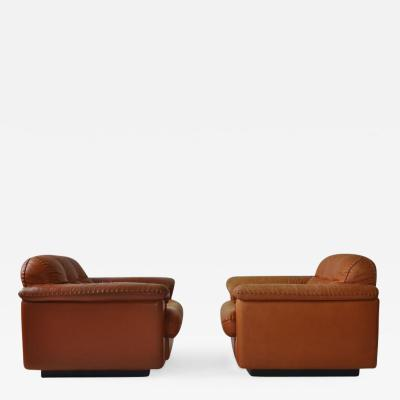 De Sede Pair of De Sede DS 101 1969 Leather Lounge Chairs