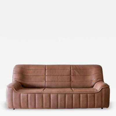 De Sede Pristine Original De Sede Model Ds84 Sofa in Cognac Buffalo Leather 1970s