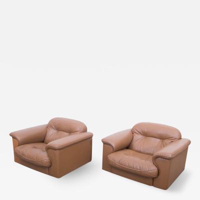 De Sede Set of Two Adjustable DS 101 Lounge Chairs by De Sede