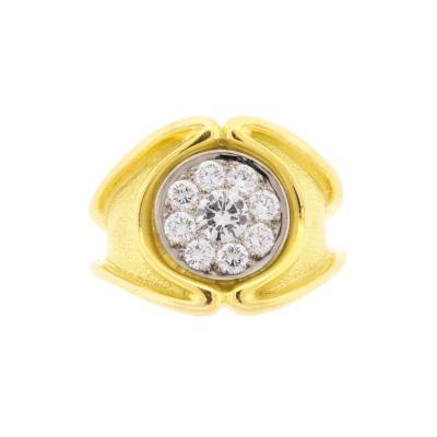 De Vroomen Leo De Vroomen Pave Diamond Ring