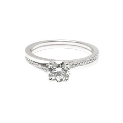 DeBeers DeBeers Diamond Promise Engagement Ring in Platinum I SI1 0 69 CTW