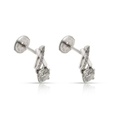DeBeers DeBeers Promise Diamond Stud Earrings in 18K White Gold 0 68 CTW