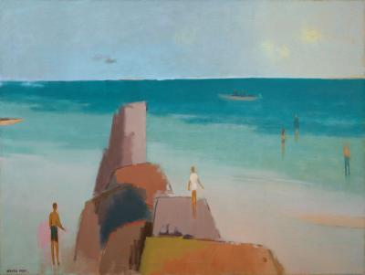 Debra Force Fine Art Kendall Lane Beach 1983 by Herman Maril 1908 1986