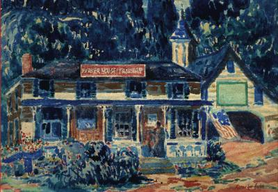 Debra Force Fine Art Parker House c 1925 George Benjamin Luks 1867 1933