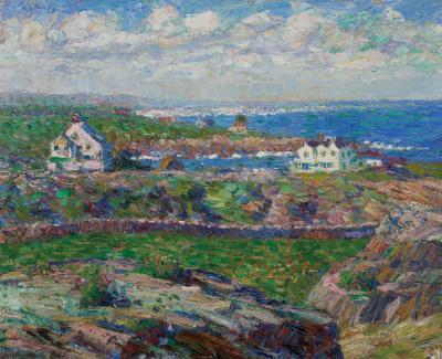 Debra Force Fine Art Walt Kuhn Houses on the Sound Ogunquit 1909