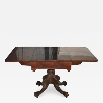 Deming Bulkley American Classical Drop Leaf Pedestal Table