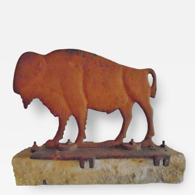 Dempster Mill Manufacturing Company Cast Iron Buffalo Windmill Weight in Old Weathered Butterscotch Paint
