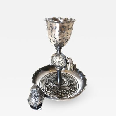 Derby Silver Company Silver Plated Cigar Cutter Ash Tray Epergne