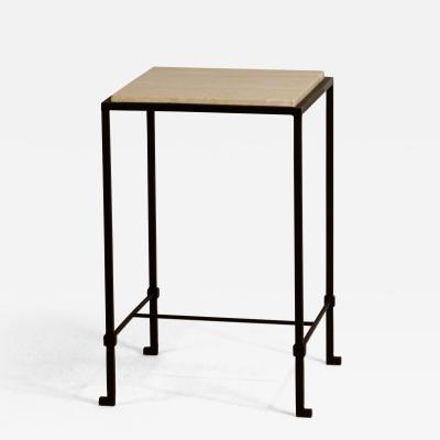 Design Fr res Diagramme Wrought Iron and Honed Travertine Drinks Table by Design Fr res
