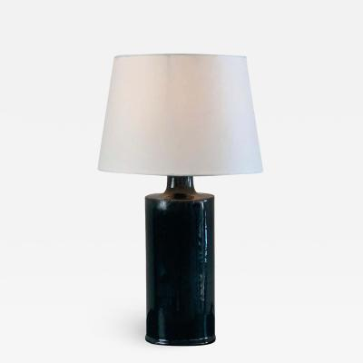 Design Fr res Glazed Ceramic Cylinder Lamp with Parchment Shade