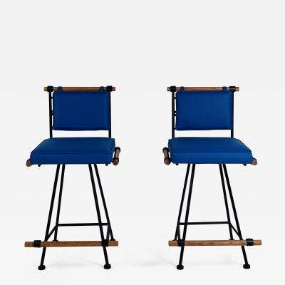 Design Fr res Pair Los Feliz Swiveling Counter Stools by Design Fr res