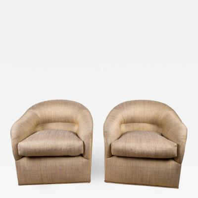 Design Fr res Pair of Opulent J Robert Scott Upholstered Club Chairs
