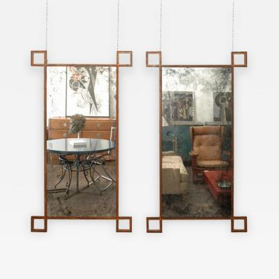 Design Fr res Pair of Rouille Tall French Industrial Mirrors