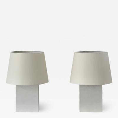 Design Fr res Pair or Large Bloc Parchment Table Lamps by Design Fr res