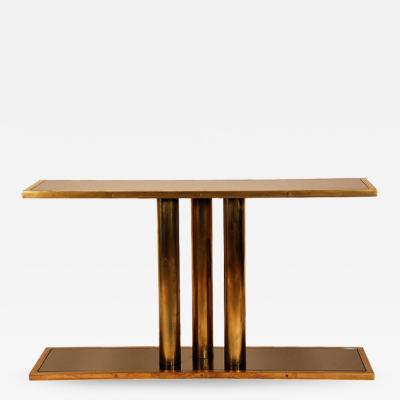 Design Fr res The Calandre Brass and Bronze Mirrored Console