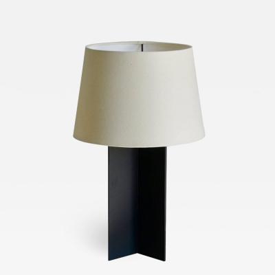 Design Fr res The Croisillon Matte Black Steel and Parchment Lamp