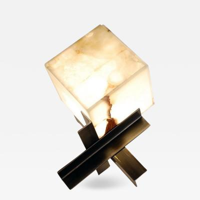 Design Fr res The Cubyx Onyx and Blackened Steel Lamp