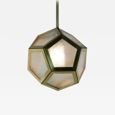 Design Fr res The Large Pentagone Brass and Glass Lantern