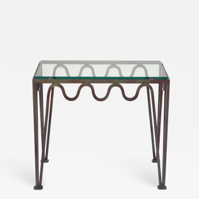 Design Fr res The M andre Verdigris Iron and Glass Side Table