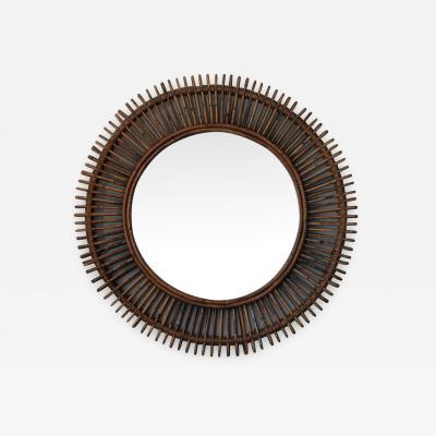 Design Fr res The Oculus Round Rattan Convex Mirror
