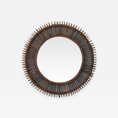 Design Fr res The Oculus Round Rattan Mirror