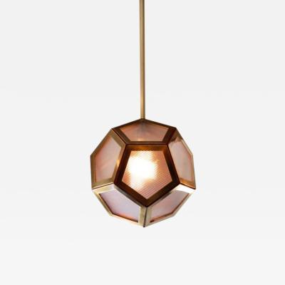 Design Fr res The Pentagone Brass and Industrial Glass Lantern