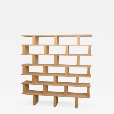 Design Fr res The Verticale Solid Natural Oak Shelving Unit