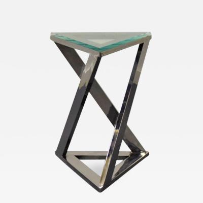 Design Institute America Design Institute of America Chrome and Glass Side Table