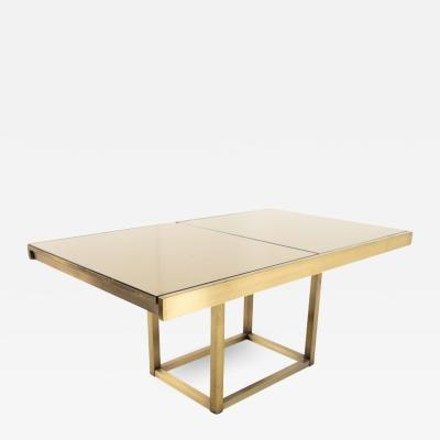 Design Institute America Design Institute of America Mid Century Brushed Brass and Glass Dining Table