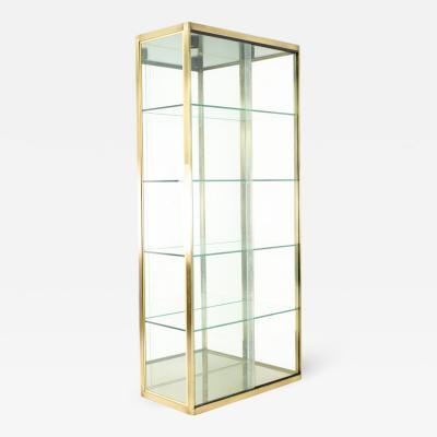 Design Institute America Design Institute of America Mid Century Brushed Brass and Glass Display Case