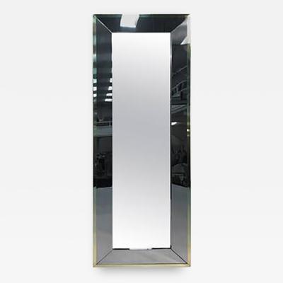 Design Institute America Elegant Brass and Chrome Wall Mirror by Design Institute of America