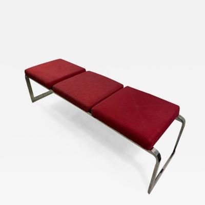Design Institute America MODERNIST CHROME BENCH DESIGNED BY DESIGN INSTITUTE AMERICA