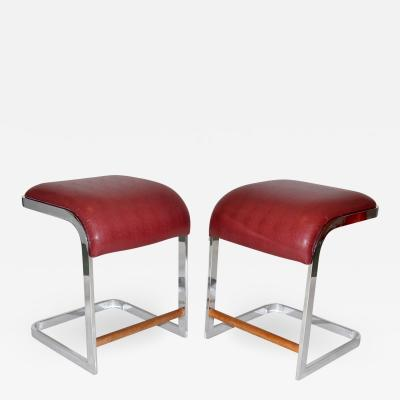 Design Institute America Pair of Bar Stools by Design Institute of America