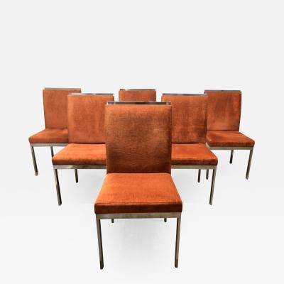 Design Institute America Set of 6 Design Institute of America Chrome Dining Chairs