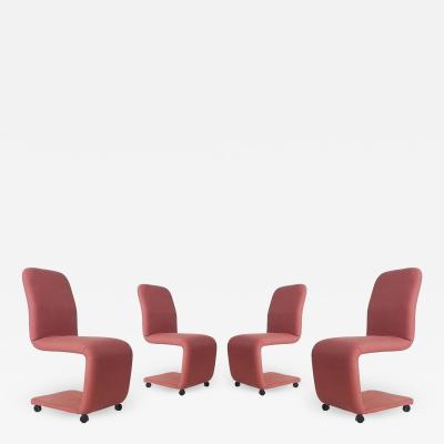 Design Institute America Set of Four Mid Century Modern Upholstered Dining Chairs by DIA