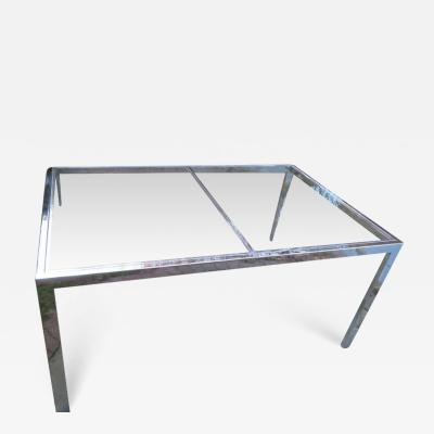 Design Institute America Striking DIA Chrome and Glass Dining Table or Desk Mid Century