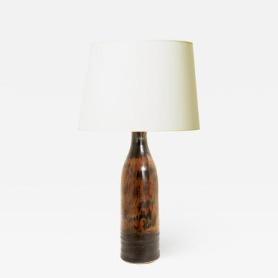 Designhuset Dramatic Copper Luster Black Glazed Lamp by C H Stalhane