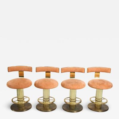 Designs for Leisure Ltd Design for Leisure Art Deco Revival Brass Counter Stools