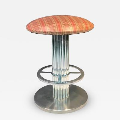 Designs for Leisure Modernist Brushed Chrome Stool by Designs for Leisure