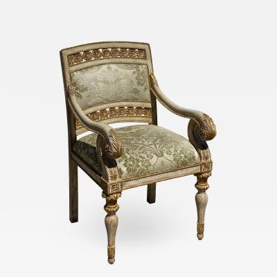 Dessin Fournir Companies Quatrain Piedmontese Style Pierced Carved Armchair