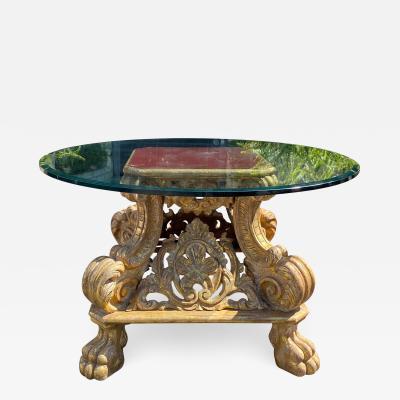 Dessin Fournir Companies Quatrain Regency Giltwood Rococo Center Table