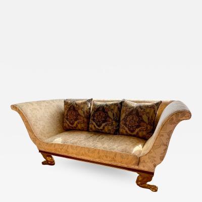 Dessin Fournir Companies Quatrain Regency Style Giltwood Mahogany Sofa Dessin Fournir