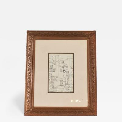 Diego Giacometti Art Deco Period Brass Picture Frame Grapevine ornamentation