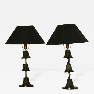 Diego Giacometti Bronze Table Lamps