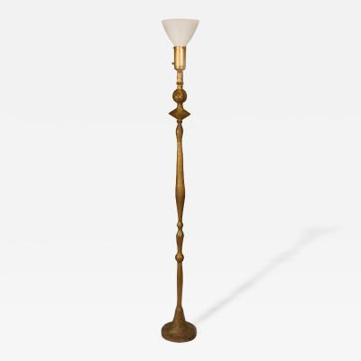 Diego Giacometti Diego Giacometti Style Gilded Bronze Floor Lamp