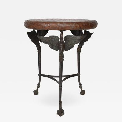Diego Giacometti Hollywood Regency Maitland Smith Bronze End Table Giacometti Era