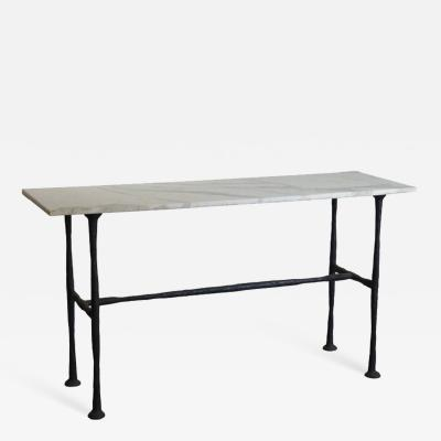 Diego Giacometti Large Patinated Bronze and Marble Console in the style of Diego Giacometti